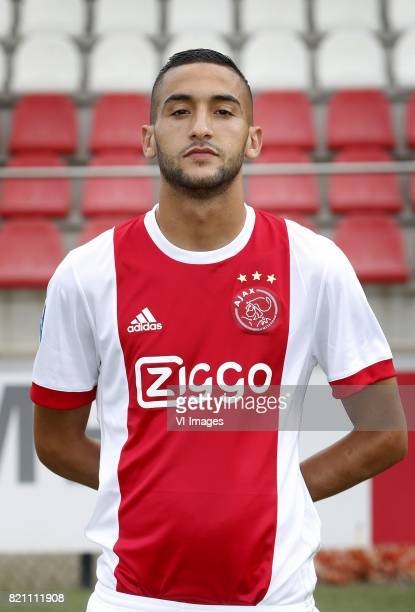 Hakim Ziyech during the team presentation of Ajax on July 22 2017 at the at the Toekomst in Amsterdam The Netherlands