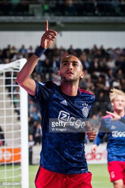 Hakim Ziyech of Ajax 01 during the Dutch Eredivisie match between Heracles Almelo and Ajax Amsterdam at Polman stadium on August 12 2017 in Almelo...