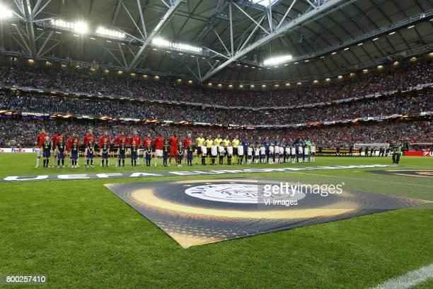 Hakim Ziyech of Ajax Bertrand Traore of Ajax Amin Younes of Ajax Kasper Dolberg of Ajax Joel Veltman of Ajax Jairo Riedewald of Ajax Matthijs de Ligt...