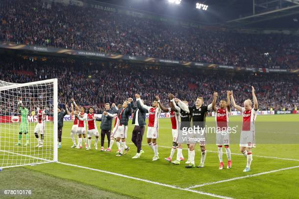 Hakim Ziyech of Ajax Davinson Sanchez of Ajax Abdelhak Nouri of Ajax Hakim Ziyech of Ajax Justin Kluivert of Ajax Amin Younes of Ajax Frenkie de Jong...