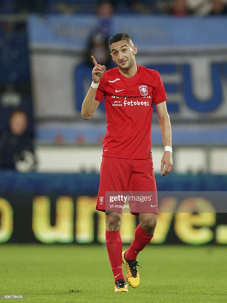 Hakim Ziyech of FC Twente during the Dutch Eredivisie match between sc Heerenveen and FC Twente at Abe Lenstra Stadium on February 06, 2016 in Heerenveen, The Netherlands