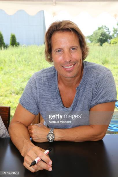 HakimMichael Meziani poses during the celebration of 2500 episodes of 'Rote Rosen' on June 18 2017 in Lueneburg Germany