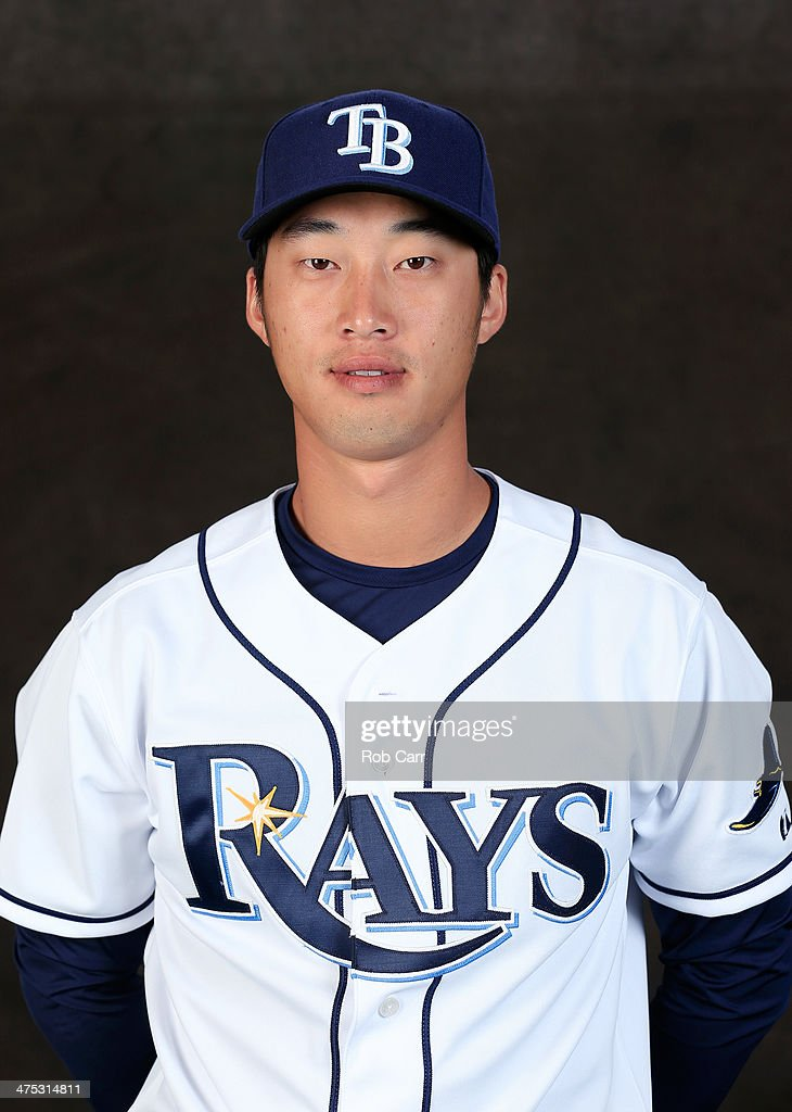 Hak-Ju Lee #36 of the Tampa Bay Rays poses for a portrait at Charlotte Sports Park during photo day on February 26, 2014 in Port Charlotte, Florida.