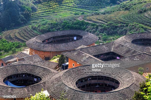 Hakka Tulou traditional Chinese housing in Fujian Province of China