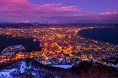 Hakodate at Night, Hokkaido, Japan