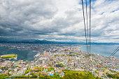 Top view on Hakodate,Hokkaido, Japanew on Hokkaido, Japan