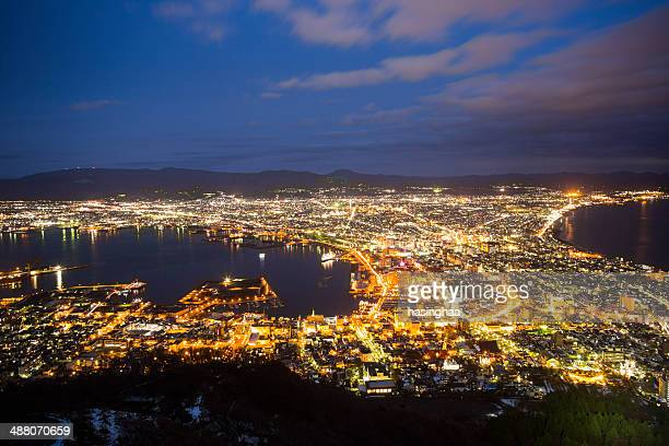 Hakodate night view point twilight moment.