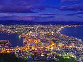 Night View of Hakodate City at Hokkaido