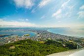 The peninsula of Hakodate, Japan.