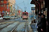 Hakodate-Hakodate city tram goryokaku Park former streetcar stop
