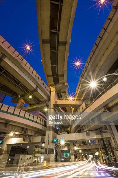 Hakozaki Junction at night