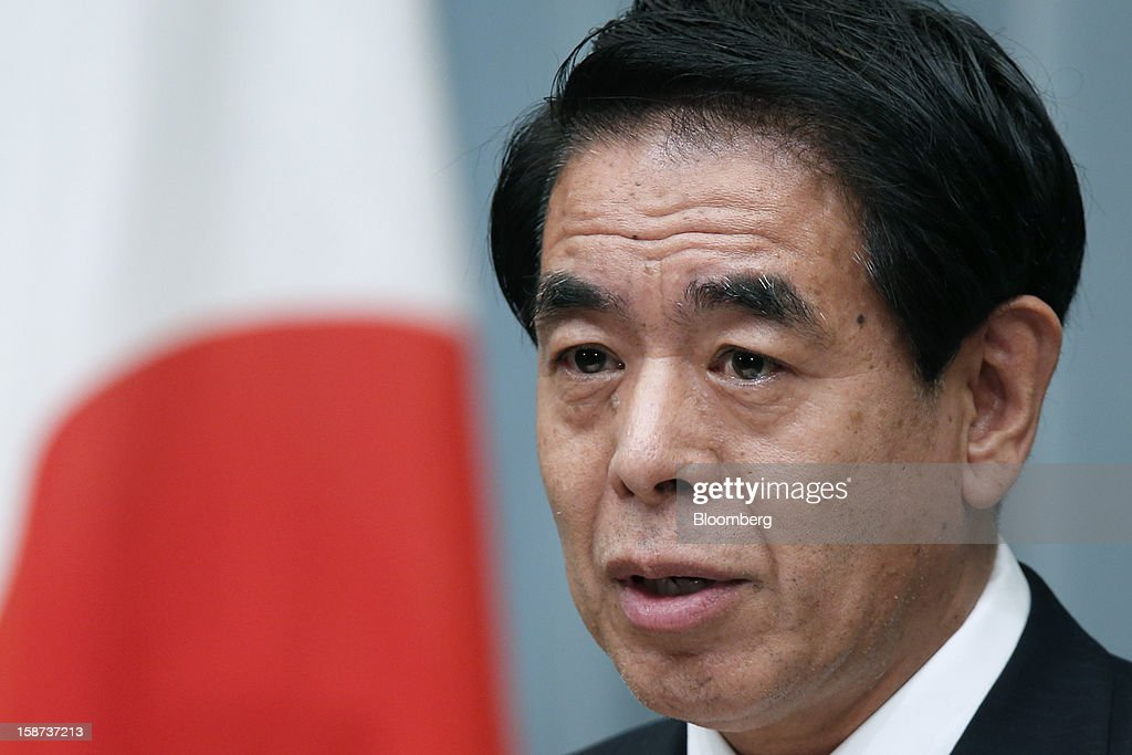 Hakubun Shimomura, Japan's newly appointed minister of education, culture, sports, science and technology, speaks during a news conference at the prime minister's official residence in Tokyo, Japan, on Thursday, Dec. 27, 2012. Japan's parliament confirmed Shinzo Abe as the nation's seventh prime minister in six years, returning him to the office he left in 2007 after his party regained power in a landslide election victory last week. Photographer: Kiyoshi Ota/Bloomberg via Getty Images