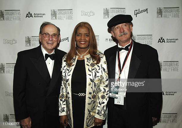 Hal David with inductees Sylvia Moy and Will Jennings