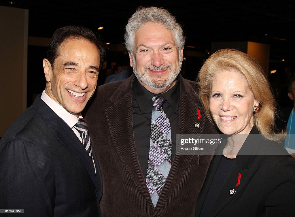 Hal Luftig, Harvey Fierstein and Daryl Roth attend the 2013 Tony Awards: The Meet The Nominees Press Junket at the Millenium Hilton on May 1, 2013 in New York City.