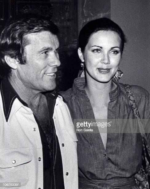 Hal Needham and Lynda Carter during Lynda Carter Sighting at Dar Maghreb Restaurant March 25 1976 at Dar Maghreb Restaurant in Los Angeles California...