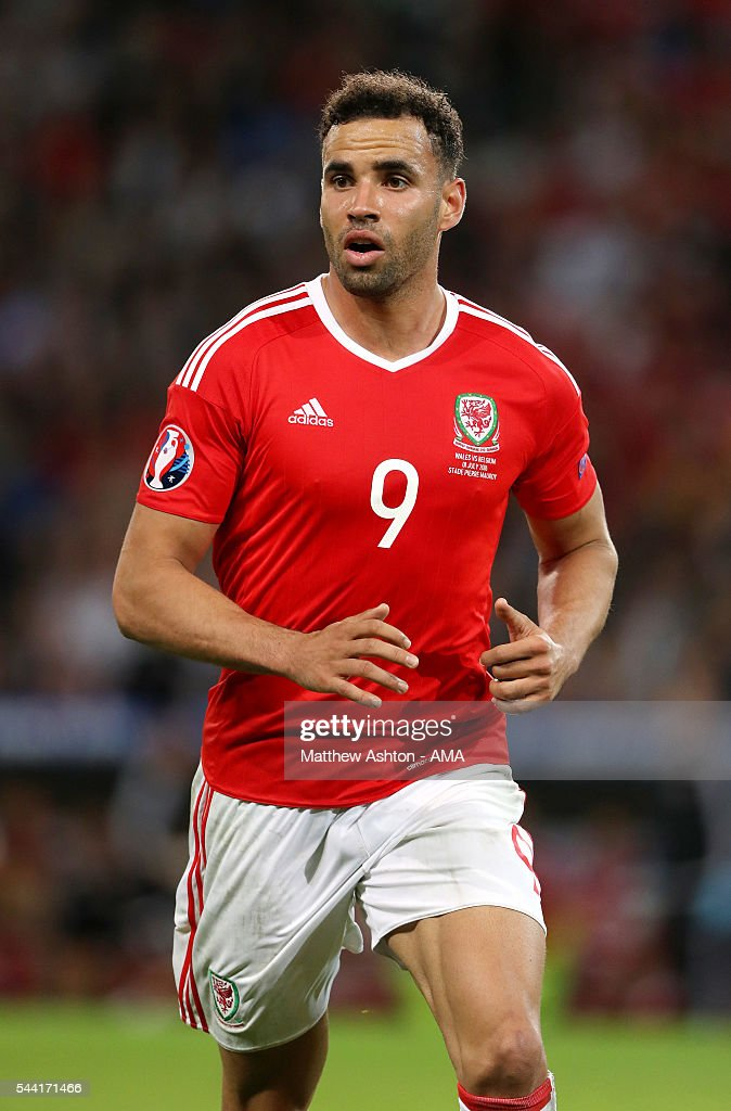 <a gi-track='captionPersonalityLinkClicked' href=/galleries/search?phrase=Hal+Robson-Kanu&family=editorial&specificpeople=5776956 ng-click='$event.stopPropagation()'>Hal Robson-Kanu</a> of Wales during the UEFA Euro 2016 quarter final match between Wales and Belgium at Stade Pierre-Mauroy on July 1, 2016 in Lille, France.