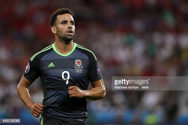 Hal RobsonKanu of Wales in action during the UEFA Euro 2016 Semi Final match between Portugal and Wales at Stade des Lumieres on July 6 2016 in Lyon...