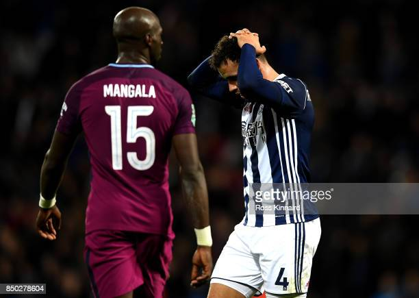 Hal RobsonKanu of West Bromwich Albion shows dissapointment during the Carabao Cup Third Round match between West Bromwich Albion and Manchester City...