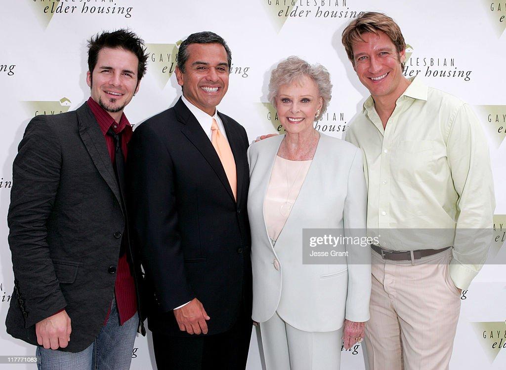 Hal Sparks, Antonio Villaraigosa, June Lockhart and Robert Gant
