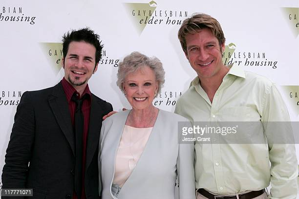 Hal Sparks June Lockhart and Robert Gant during Ground Breaking Ceremony of 'Encore Hall' Gay and Lesbian Housing at 1602 N Ivar in Hollywood...