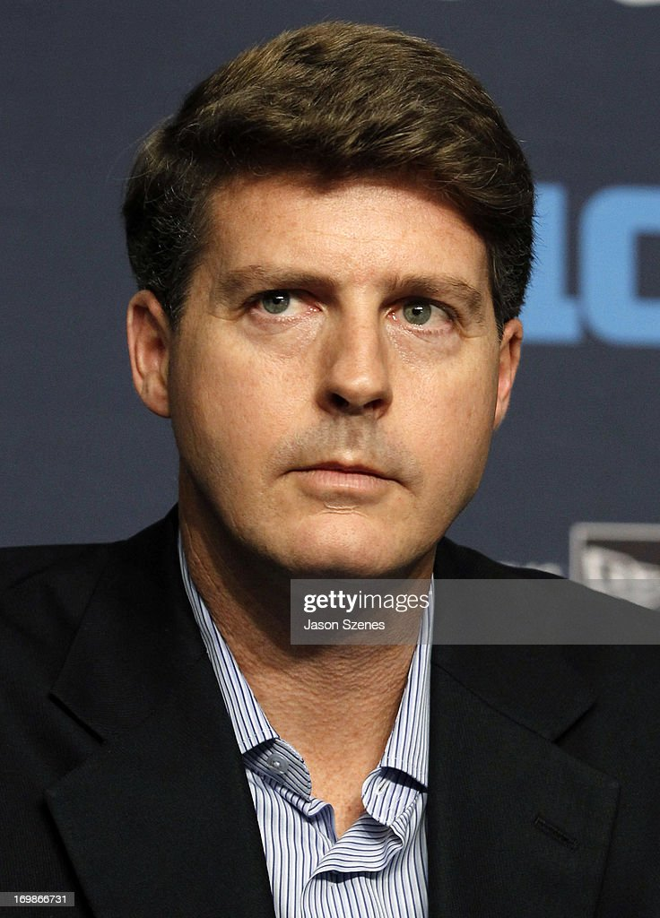 Hal Steinbrenner, Managing General Partner of the New York Yankees, atteneds a press conference to announce the New Era Pinstripe Bowl's eight-year partnership with the Big Ten Conference at Yankees Stadium on June 3, 2013 in the Bronx borough of New York City. (Photo by Jason Szenes/Getty Images