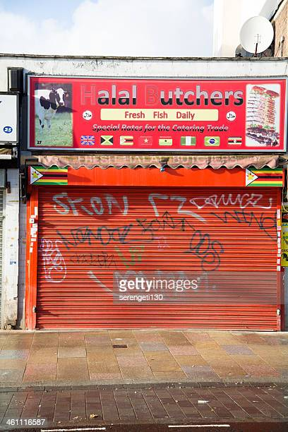 Halal Butchers on Deptford High Street London.