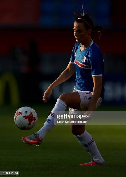 Halbera Gisladottir of Iceland warms up before the Group C match between France and Iceland during the UEFA Women's Euro 2017 at Koning Willem II...