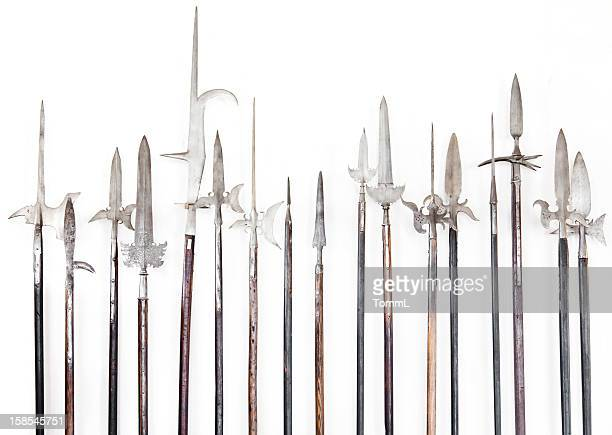 Halberds on a white wall