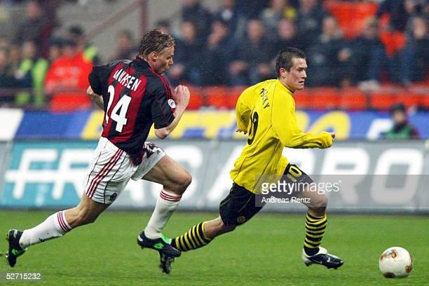POKAL 01/02 Halbfinale Mailand AC MAILAND BORUSSIA DORTMUND Martin LAURSEN/MAILAND Tomas ROSICKY/DORTMUND