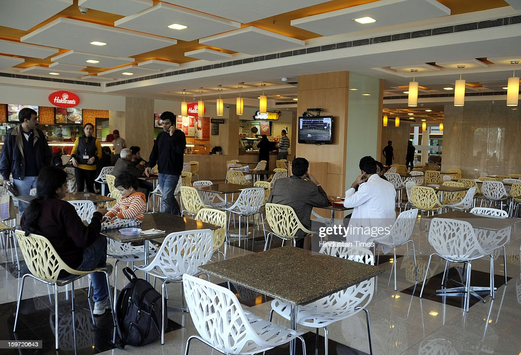 Haldiram outlet inside food court at Fortis Memorial Research Institute sector- 44 on January 19, 2013 in Gurgaon, India.
