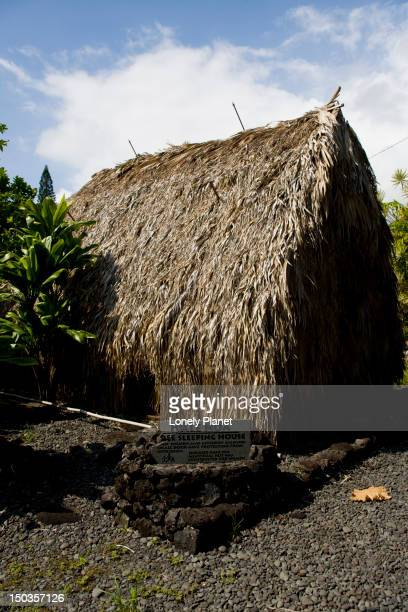 Hale Noa, sleeping house, Hawaiian Cultural Centre, Hana, East Maui.