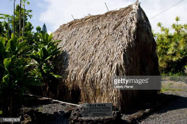 Hale Noa, sleeping house, Hawaiian Cultural Centre, Hana, East Maui.