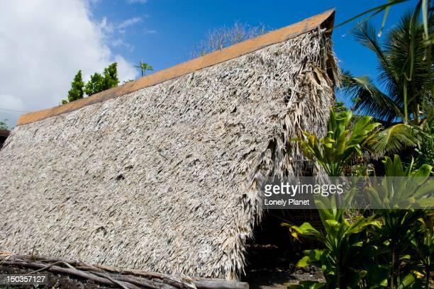 Hale Wa'a, canoe house, Hawaiian Cultural Centre, Hana, East Maui.