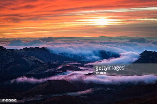 Haleakala National Park Crater Sunrise in Maui Hawaii