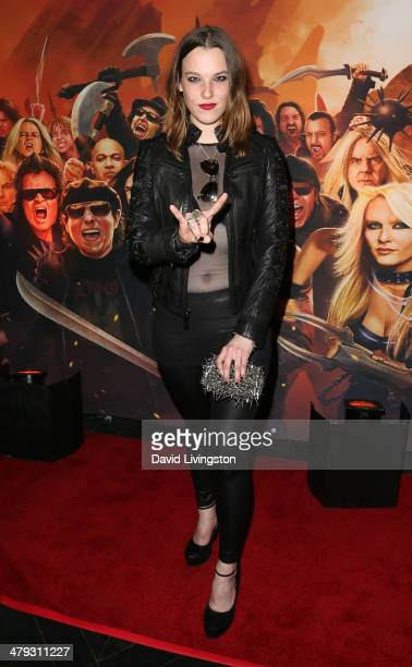 Halestorm lead singer Lzzy Hale attends the 3rd Annual Watch Awards Gala at Avalon on March 17 2014 in Hollywood California