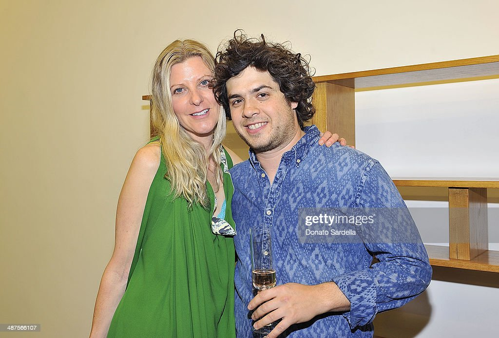 Haley Alexander Van Oosten of L'Oeil du Vert and David Wiseman attend L'Oeil du Vert opening reception at Maxfield Gallery on April 30, 2014 in Los Angeles, California.