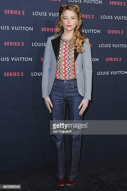 Haley Bennett arrives at Louis Vuitton 'Series 2' The Exhibition on February 5 2015 in Hollywood California