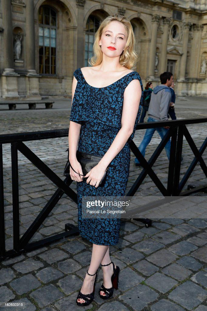 <a gi-track='captionPersonalityLinkClicked' href=/galleries/search?phrase=Haley+Bennett&family=editorial&specificpeople=2308488 ng-click='$event.stopPropagation()'>Haley Bennett</a> attends the Louis Vuitton show as part of the Paris Fashion Week Womenswear Spring/Summer 2014 at Le Carre du Louvre on October 2, 2013 in Paris, France.