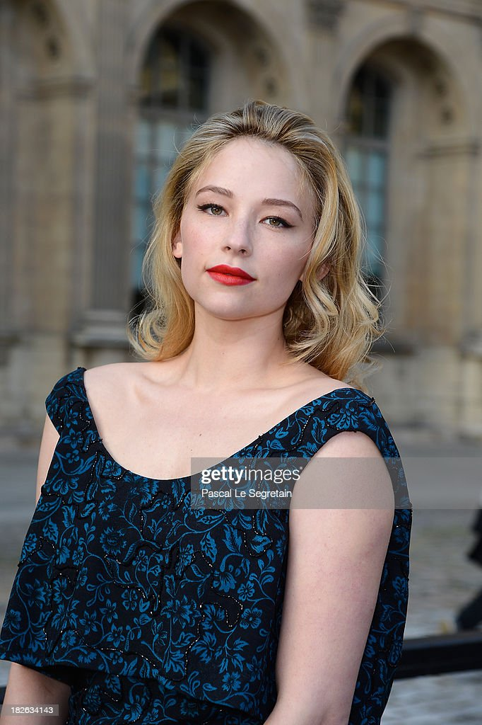 Haley Bennett attends the Louis Vuitton show as part of the Paris Fashion Week Womenswear Spring/Summer 2014 at Le Carre du Louvre on October 2, 2013 in Paris, France.