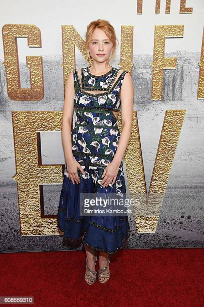 Haley Bennett attends 'The Magnificent Seven' premiere at Museum of Modern Art on September 19 2016 in New York City