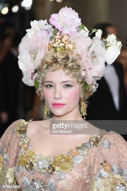 Haley Bennett attends the 'Rei Kawakubo/Comme des Garcons Art Of The InBetween' Costume Institute Gala at Metropolitan Museum of Art on May 1 2017 in...