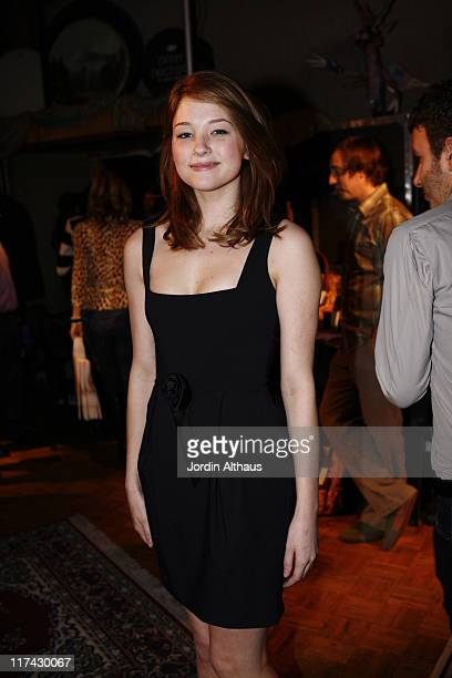 Haley Bennett wearing Kyri London during 49th Annual GRAMMY Awards GRAMMY Style Studio 2007 Day 4 at Ocean Way Recording Studio in Hollywood...