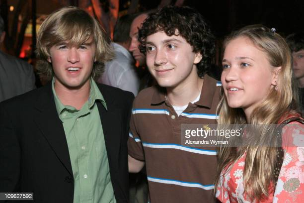 Haley Joel Osment Daryl Sabara and Emily Osment during 'Monster House' Los Angeles Premiere After Party at Mann Village in Westwood California United...