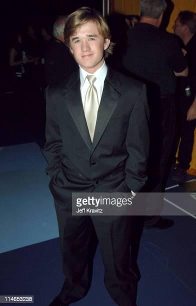 Haley Joel Osment during 2005 TV Land Awards Backstage at Barker Hangar in Santa Monica California United States