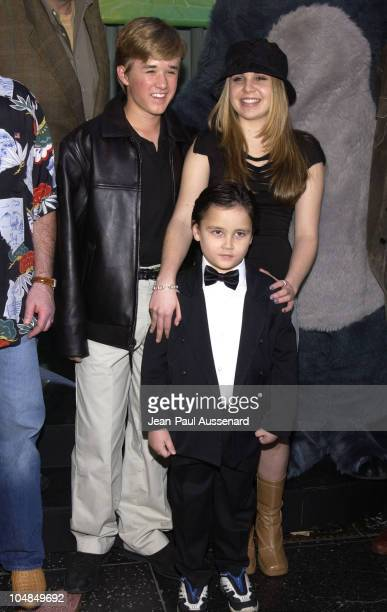 Haley Joel Osment Mae Whitman and Connor Funk during 'The Jungle Book 2' Premiere at The El Capitan Theater in Hollywood California United States