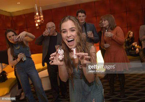 Haley Lu Richardson attends the after party for the premiere of Sony Pictures Classics' 'The Bronze' at the Pacific Design Center on March 7 2016 in...