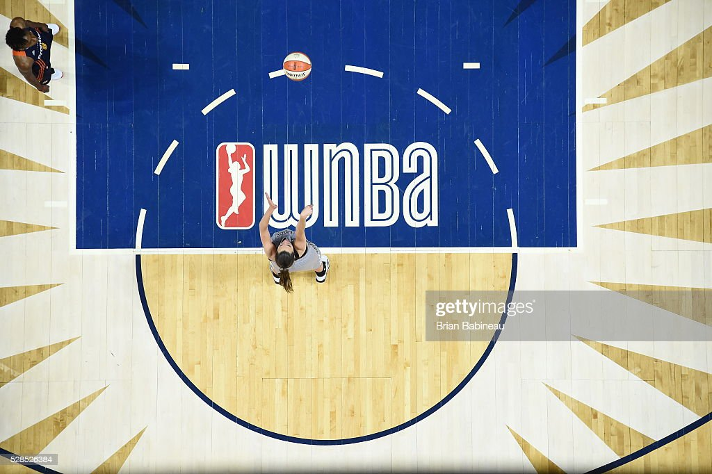 Haley Peters #7 of the San Antonio Stars shoots a free throw against the Connecticut Sun in a WNBA preseason game on May 5, 2016 at the Mohegan Sun Arena in Uncasville, Connecticut.