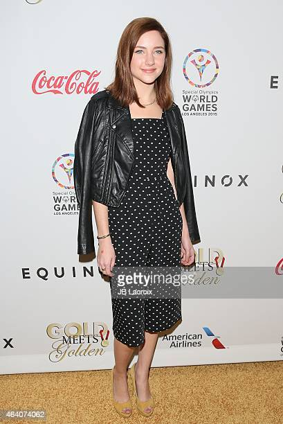 Haley Ramm attends the 3rd Annual Gold Meets Golden at Equinox Sports Club West LA on February 21 2015 in Los Angeles California