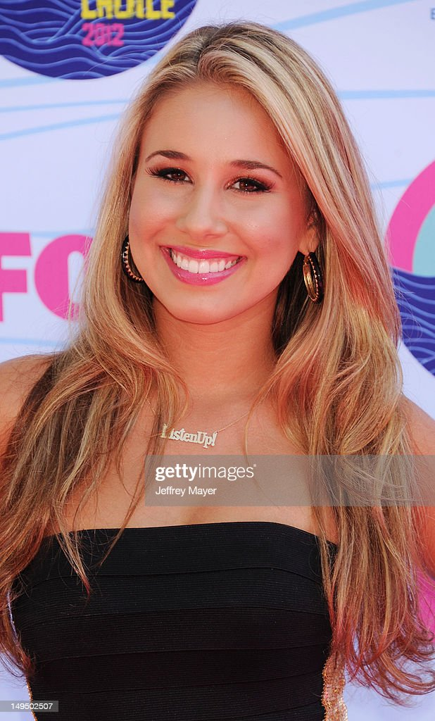 Haley Reinhart arrives at the 2012 Teen Choice Awards at Gibson Amphitheatre on July 22, 2012 in Universal City, California.