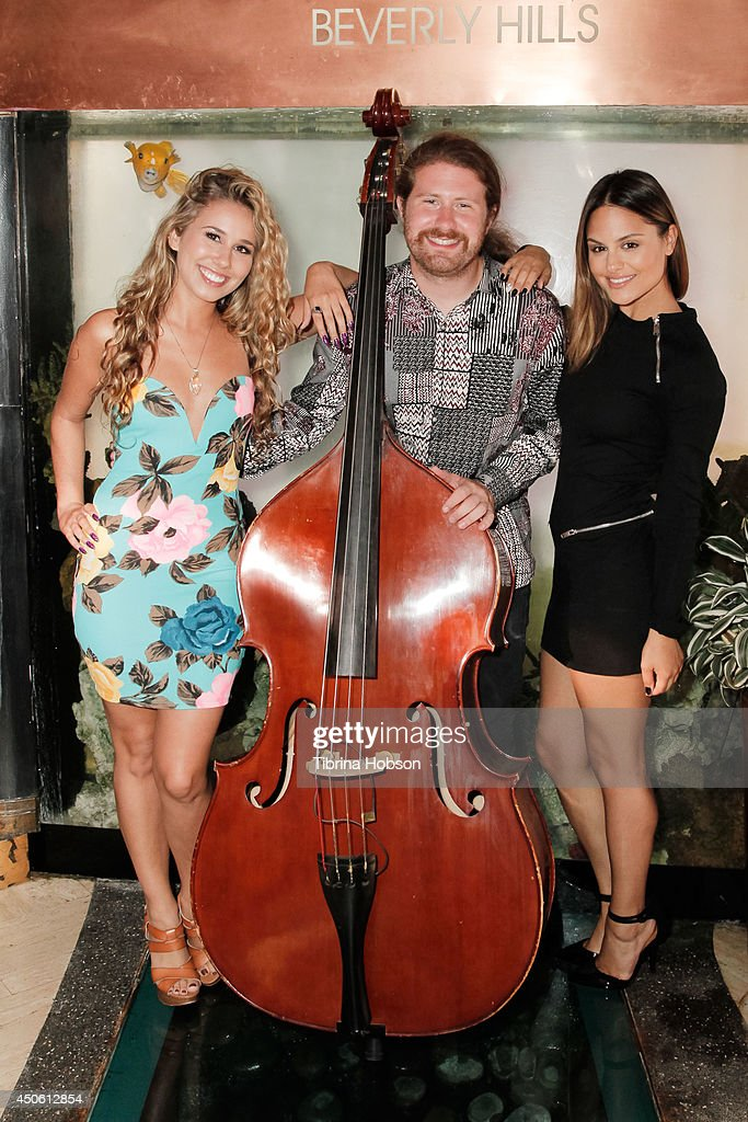 Haley Reinhart Casey Abrams and Pia Toscano attend the 'Red Hour Live Music Series' at Crustacean on June 11 2014 in Beverly Hills California